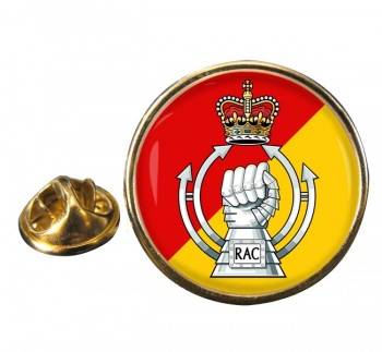 RAC - The Royal Armoured  Corps (British Army) Round Pin Badge