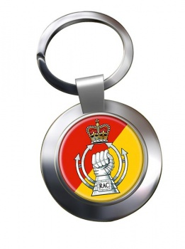 RAC - The Royal Armoured  Corps (British Army) Chrome Key Ring