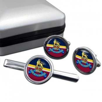 Royal Army Pay Corps (British Army) Round Cufflink and Tie Clip Set
