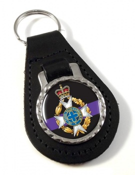 Royal Army Chaplains' Department (Christian) Leather Key Fob