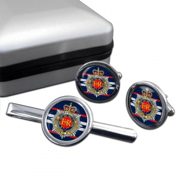 Royal Corps of Transport (British Army) Round Cufflink and Tie Clip Set