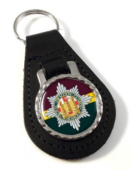 Royal Dragoon Guards (British Army) Leather Key Fob