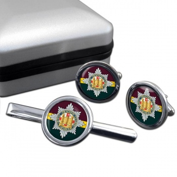 Royal Dragoon Guards (British Army) Round Cufflink and Tie Clip Set