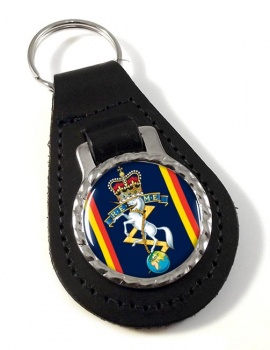 Corps of Royal Electrical and Mechanical Engineers (REME) Leather Key Fob