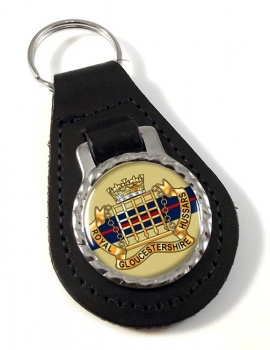 Royal Gloucestershire Hussars Leather Key Fob