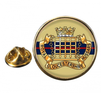 Royal Gloucestershire Hussars Round Pin Badge