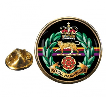 Royal Hampshire Regiment (British Army) Round Pin Badge
