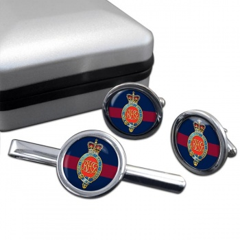 Royal Horse Guards (British Army) Round Cufflink and Tie Clip Set