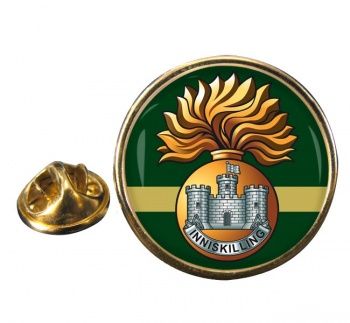 Royal Inniskilling Fusiliers Round Pin Badge