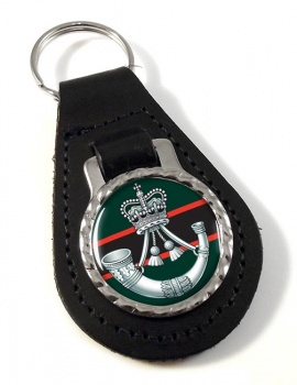 The Rifles (Bugle) British Army Leather Key Fob