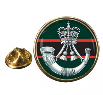 The Rifles (Bugle) British Army Round Pin Badge