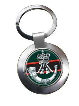 The Rifles (Bugle) British Army Chrome Key Ring