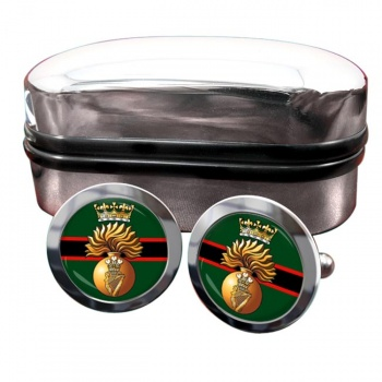 Royal Irish Fusiliers (British Army)  Round Cufflinks