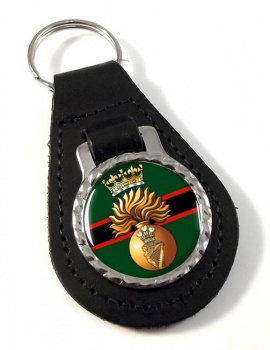 Royal Irish Fusiliers (British Army)  Leather Key Fob