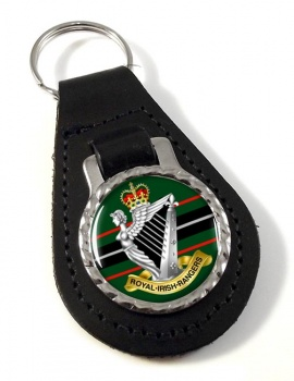 Royal Irish Rangers (British Army)  Leather Key Fob