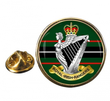Royal Irish Rangers (British Army)  Round Pin Badge