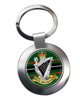 Royal Irish Rangers (British Army)  Chrome Key Ring