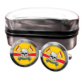 Royal Lancers (British Army) Round Cufflinks