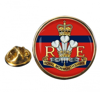 Royal Monmouthshire Royal Engineers (British Army) Round Pin Badge