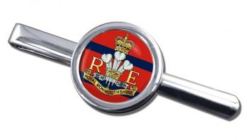 Royal Monmouthshire Royal Engineers (British Army) Round Tie Clip
