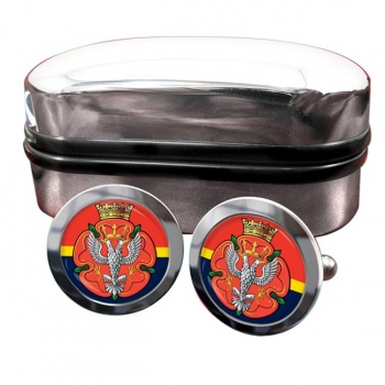 Royal Mercian and Lancastrian Yeomanry (British Army) Round Cufflinks
