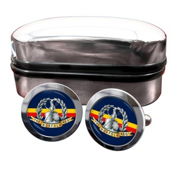 Royal Norfolk Regiment (British Army) Round Cufflinks