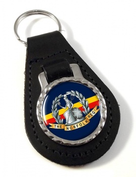 Royal Norfolk Regiment (British Army) Leather Key Fob