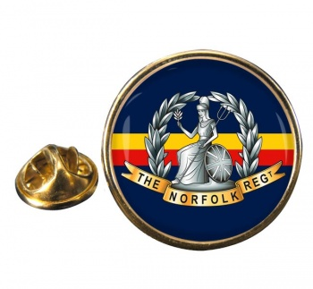 Royal Norfolk Regiment (British Army) Round Pin Badge