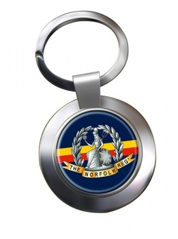 Royal Norfolk Regiment (British Army) Chrome Key Ring