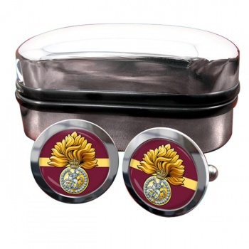 Royal Regiment of Fusiliers (British Army) Badge Round Cufflinks