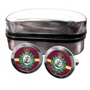 Royal Regiment of Fusiliers (British Army) Crest Round Cufflinks