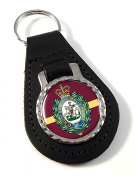 Royal Regiment of Fusiliers (British Army) Crest Leather Key Fob