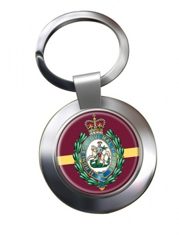 Royal Regiment of Fusiliers (British Army) Crest Chrome Key Ring
