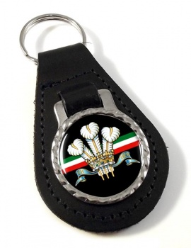 Royal Regiment of Wales (British Army) Leather Key Fob