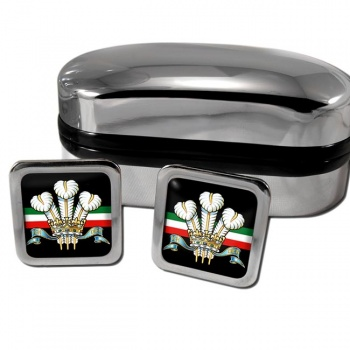 Royal Regiment of Wales (British Army) Square Cufflinks