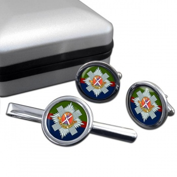 Royal Scots (British Army) Round Cufflink and Tie Clip Set