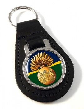 Royal Scots Fusiliers (British Army) Leather Key Fob
