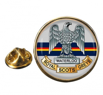 Royal Scots Greys (British Army) Round Pin Badge