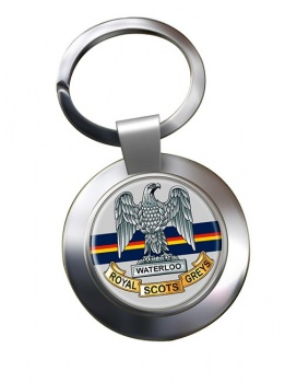Royal Scots Greys (British Army) Chrome Key Ring