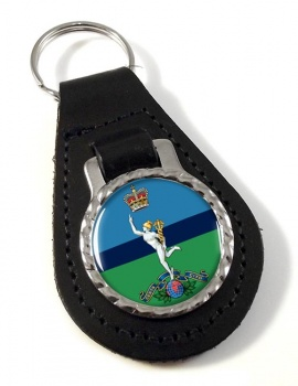 Royal Corps of Signals Leather Key Fob