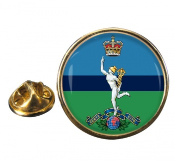 Royal Corps of Signals Round Pin Badge