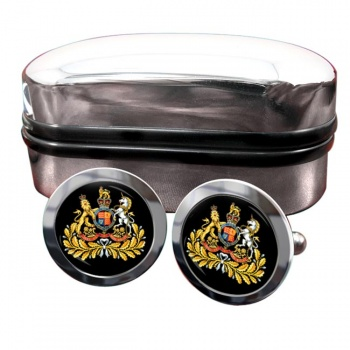 Sergeant Major British Army Round Cufflinks