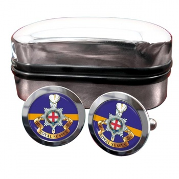 Royal Sussex Regiment (British Army) Round Cufflinks