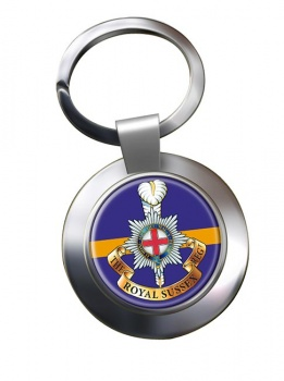 Royal Sussex Regiment (British Army) Chrome Key Ring