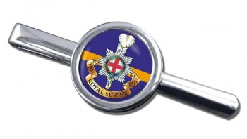 Royal Sussex Regiment (British Army) Round Tie Clip