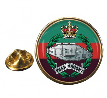 Royal Tank Regiment (British Army) Round Pin Badge