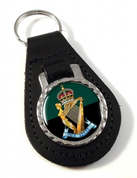 Royal Ulster Rifles (British Army) Leather Key Fob