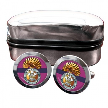 Royal Welsh Fusiliers (British Army) Round Cufflinks