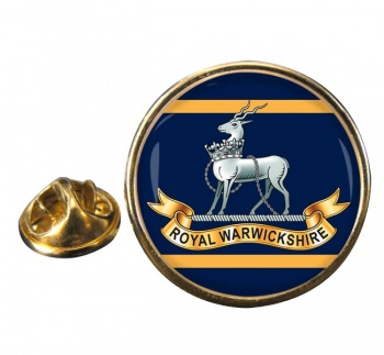 Royal Warwickshire Fusiliers (British Army) Round Pin Badge