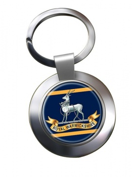 Royal Warwickshire Fusiliers (British Army) Chrome Key Ring